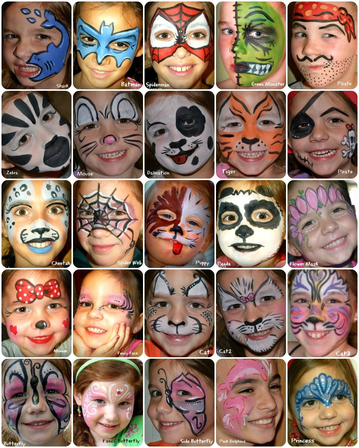 ...Full Face Paint Board... Face painting easy