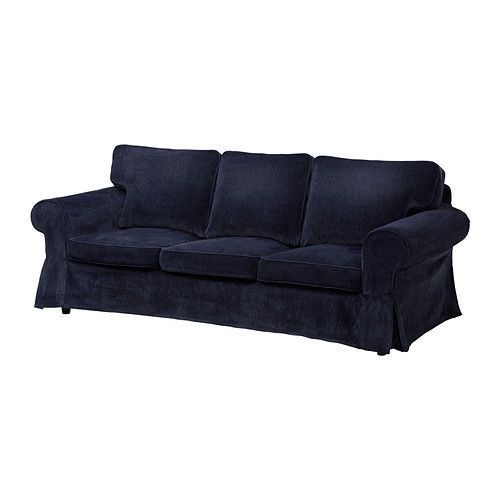 Ikea Ektorp Vellinge Dark Blue Slipcover Sofa And
