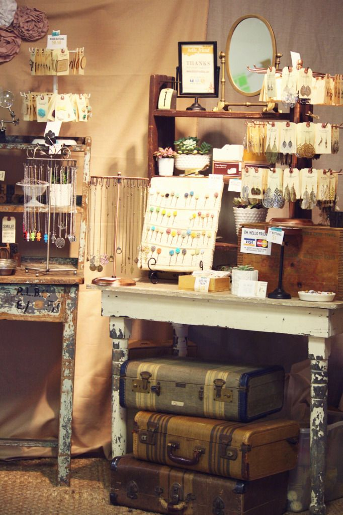 Jewelry And Tables Craft Booth Displays Craft Fair Booth Display Craft Fairs Booth