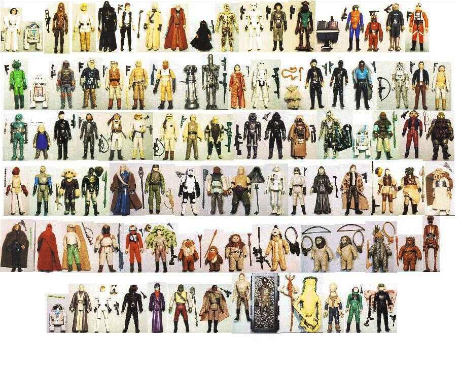 All Star Wars Toys : Complete vintage collection of original star wars action