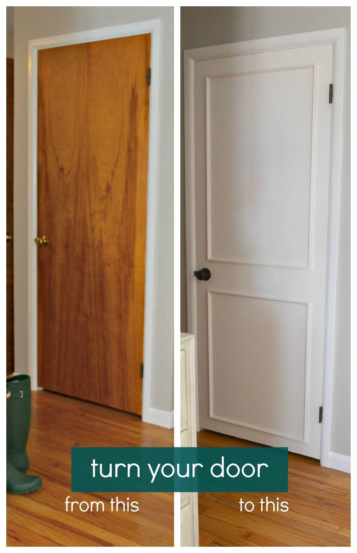 Diy Hollow Door Makeover Door Makeover Diy White Panel Doors
