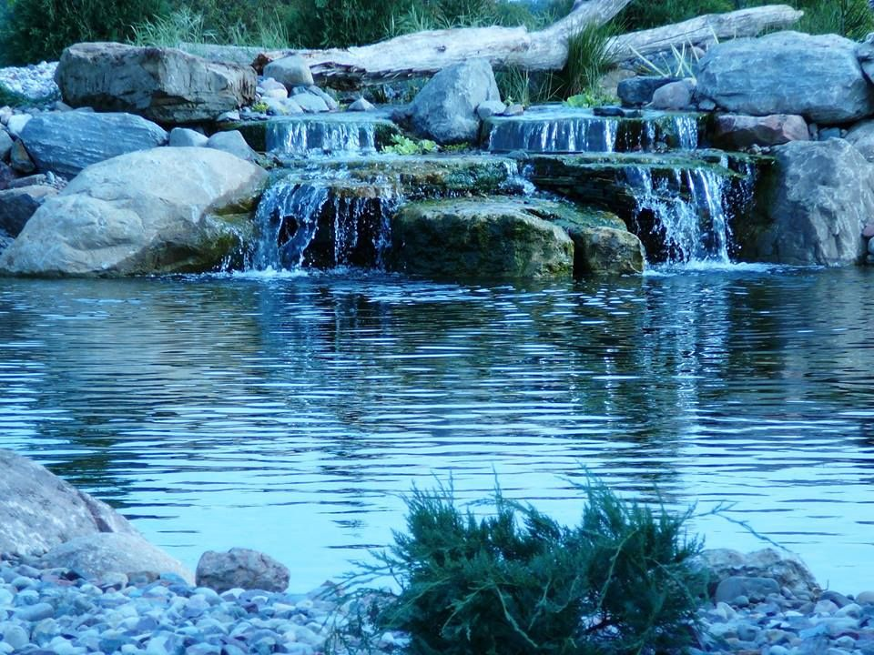 Waterfall created by Proscapes LLC in Madison, WI. # ...