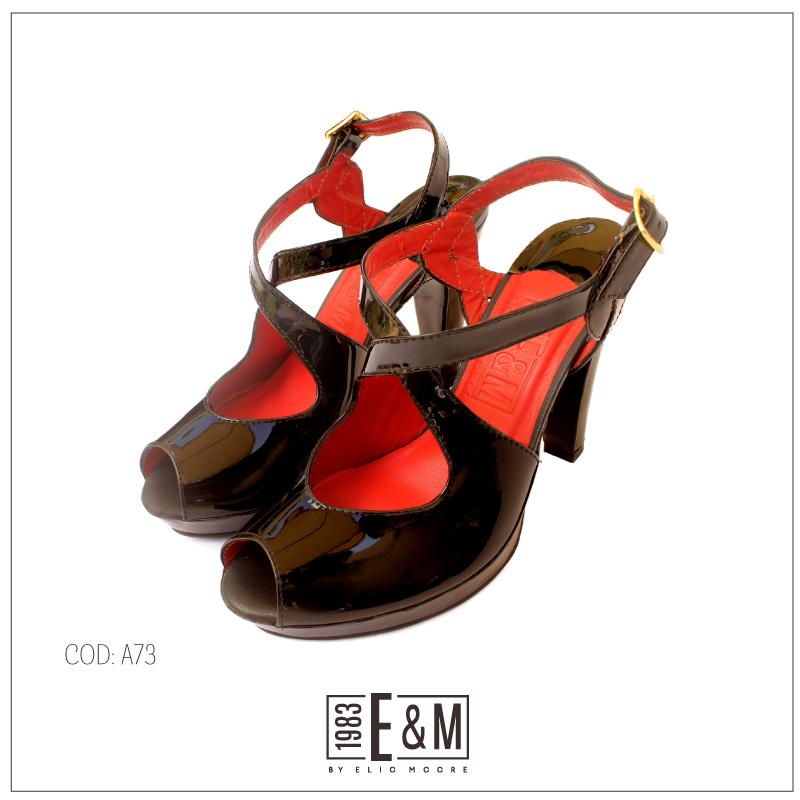 #Zapatos #tacos #altos #fiesta #negro #cuero #ByElioMoore #heels