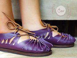 0fa0857a0dc Handmade Sexy Purple Leather Sandals   Beautiful 100% Handmade ...