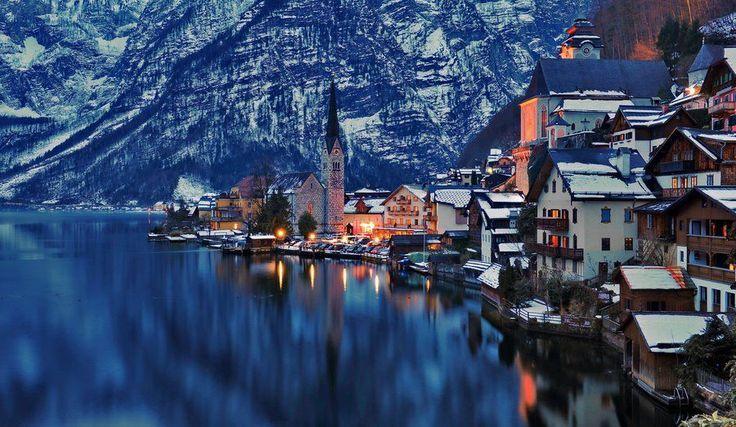 Hallstatt Austria Xmas Winter Joy Cerulean Hues Pinterest Austria