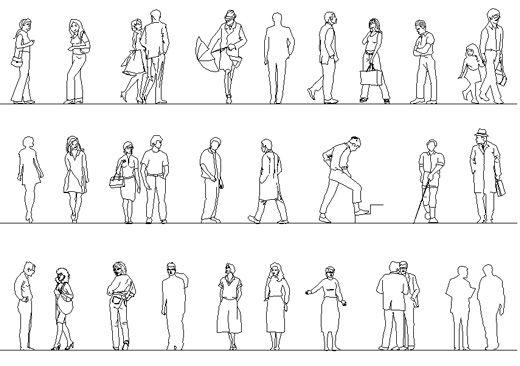 Sagome Stilizzate Di Persone.Figure Umane Persone Dwg Figure Umane Figurativo E Disegni
