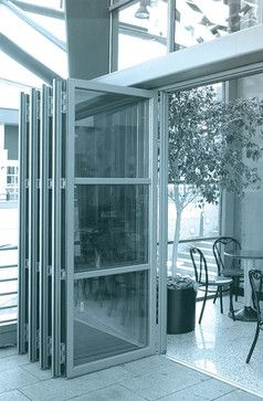 ALAFORM Bi-Folding Door Show Room - modern - garage doors - other ...