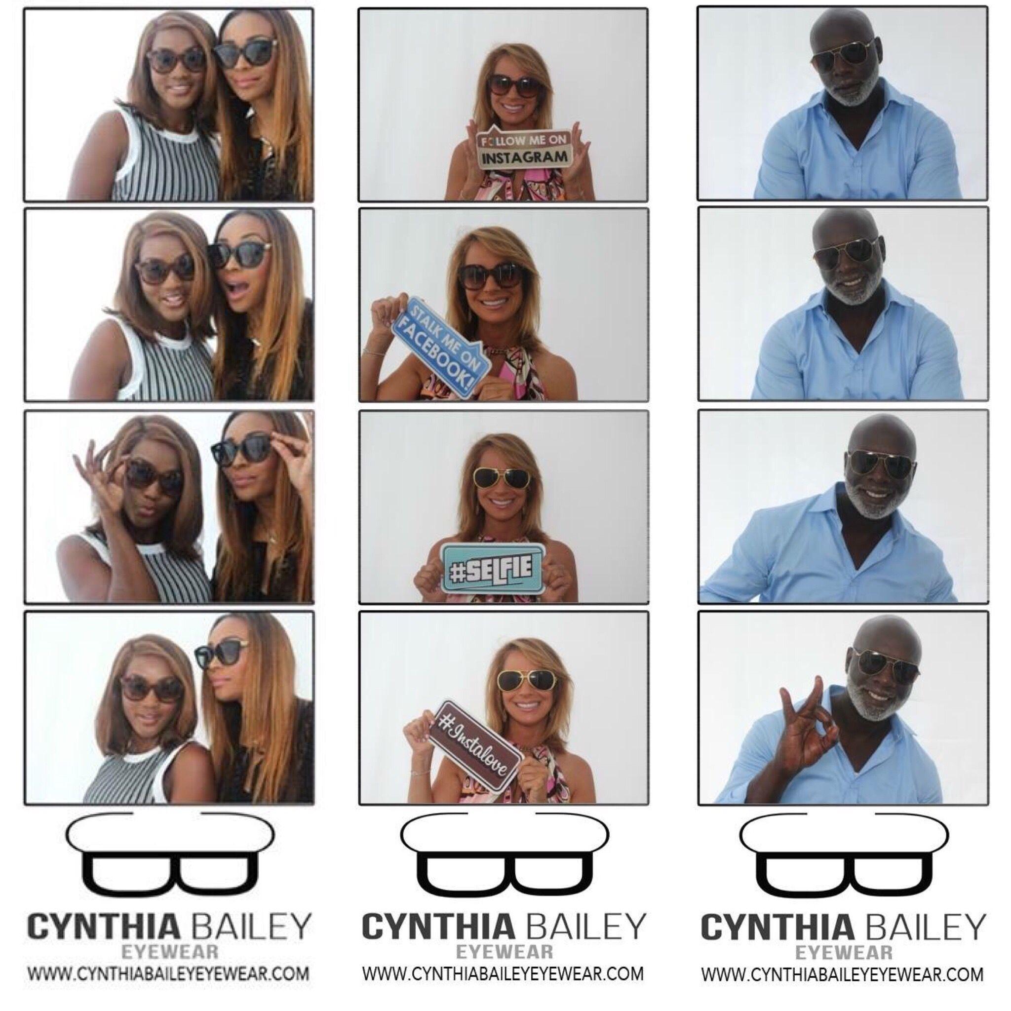 Cynthia Bailey Eyewear Photo Booth strips.