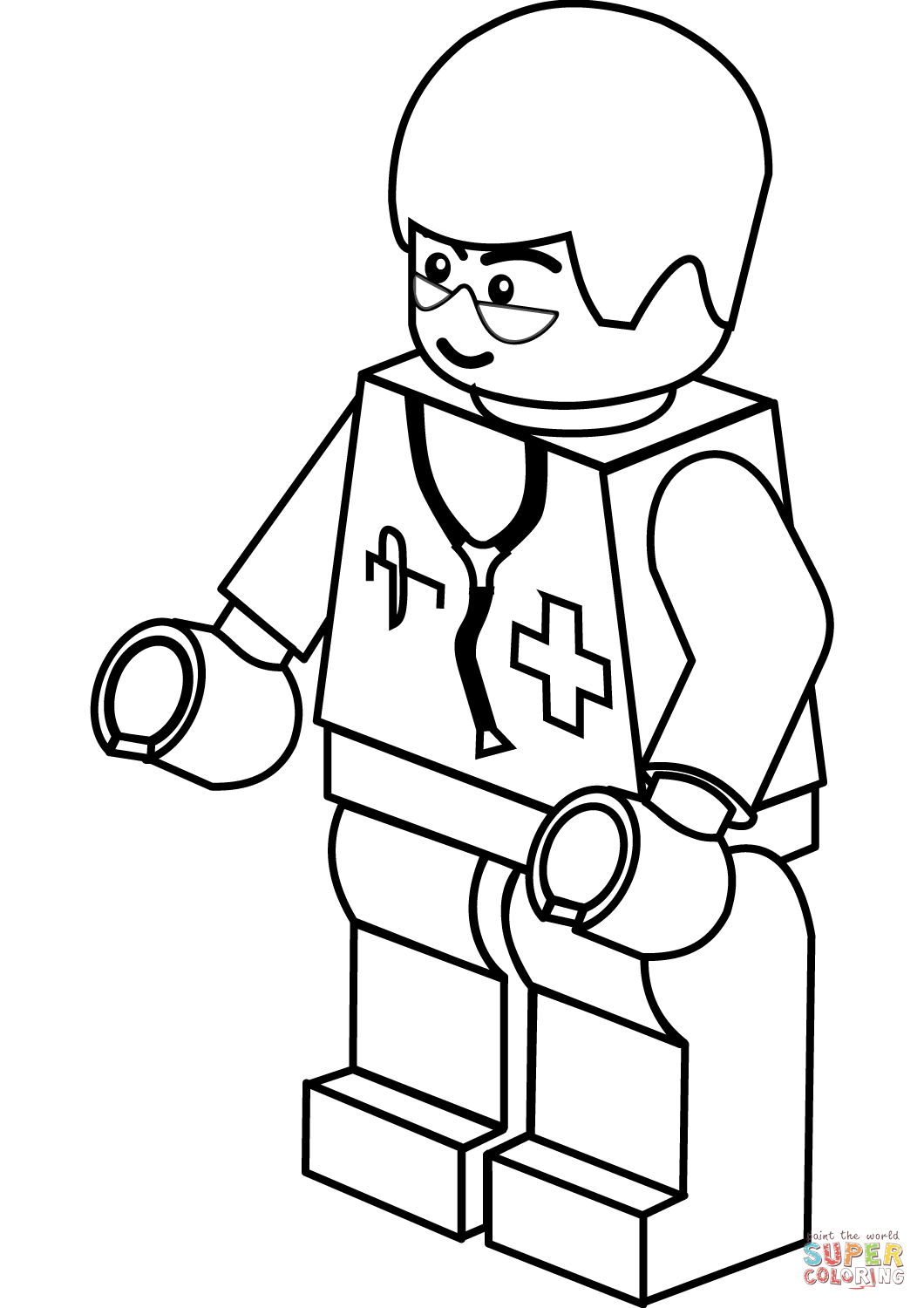 Lego Doctor Coloring Page Free Printable Coloring Pages Lego Coloring Pages Lego Coloring Lego Movie Coloring Pages