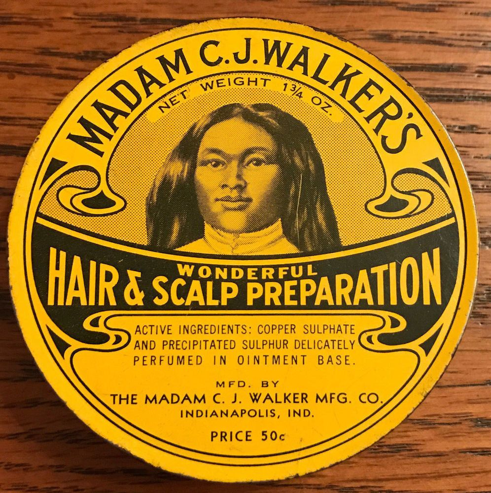 Madam C.J. Walker's Hair & Scalp Preparation Tin Black