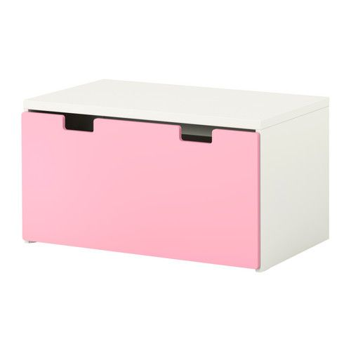 IKEA   STUVA, Storage Bench, White/pink, , Low Storage Makes It Easier For  Children To Reach And Organize Their Things.Stands Evenly On An Uneven  Floor;
