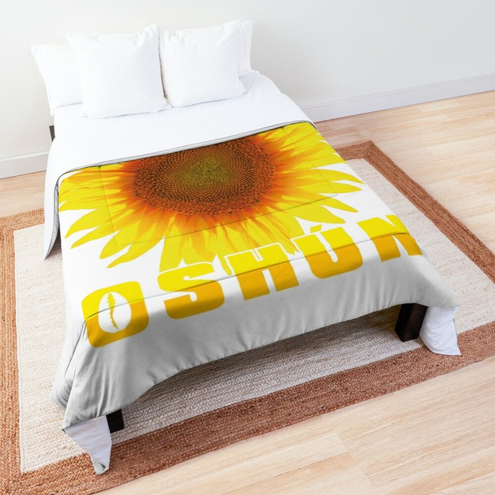 Comforter with vivid, full color orisha Oshun and