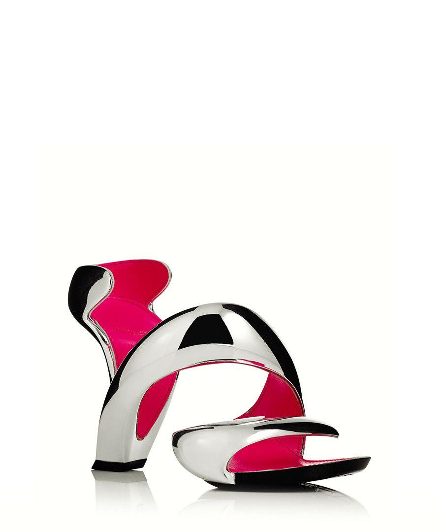 d5f6fc367b Julian Hakes Mojito chrome and fuchsia leather heels £89.00 £200.00 (56%  off)