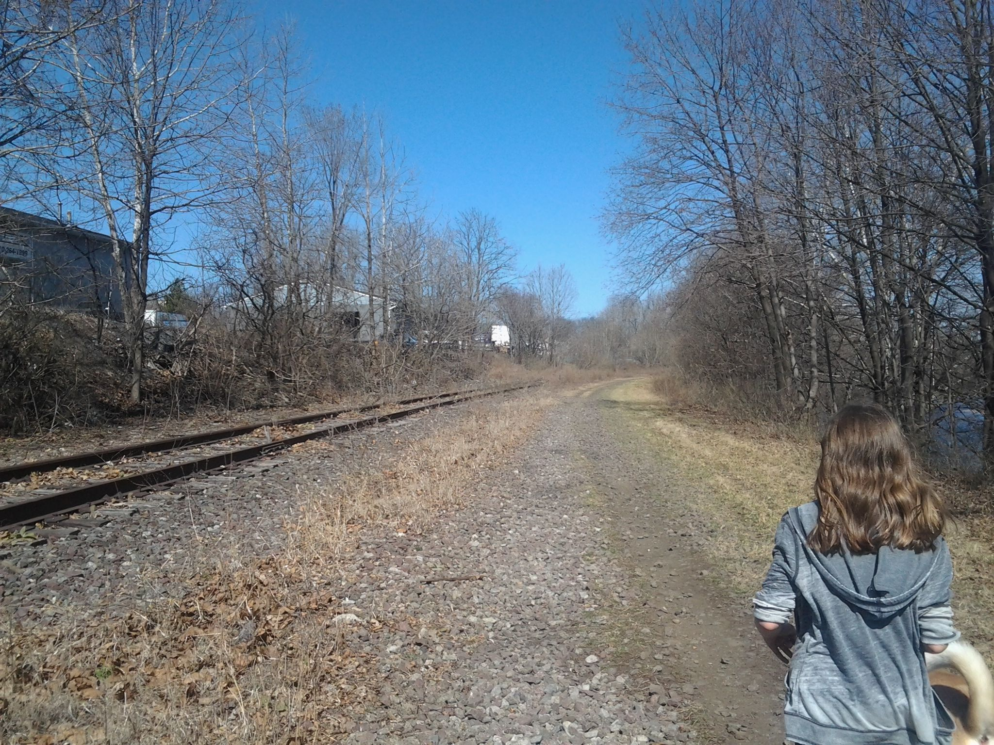 Visiting PA, About A Year Ago. Walking Down Abandoned Train Tracks, Surrounded By Beautiful Landscape, Walking With My Best Friend Gabby. I REALLY Miss Her. :c