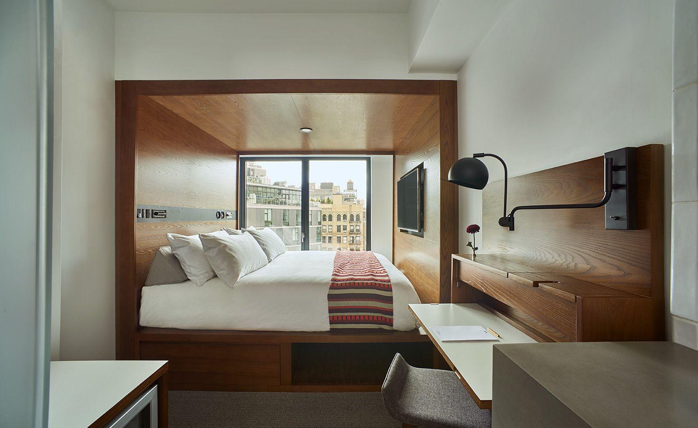 Arlo Hotel Hudson Square New York Usa Small Hotel Room Beautiful Hotels Rooms Soho Hotel