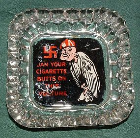Anti-Fascist Propaganda Ashtray - WWII Italian
