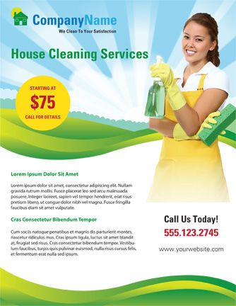 Use this home cleaning flyer template to advertise your cleaning - house cleaning flyer template