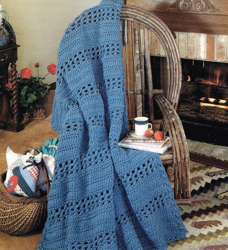Double Cross Afghan Crochet Pattern Blanket Throw Instructions ...
