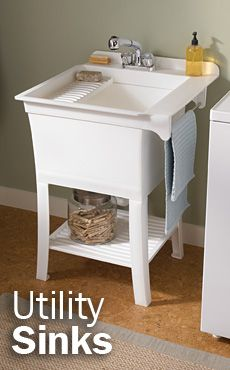 Maybe I Could Do This Utility Sink Laundry Room Remodel Laundry Room Sink Laundry Room Makeover
