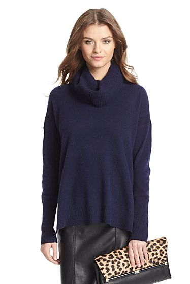 f0b2784863f7 DVF Ahiga Slim Cashmere Turtleneck Sweater In Ink  348