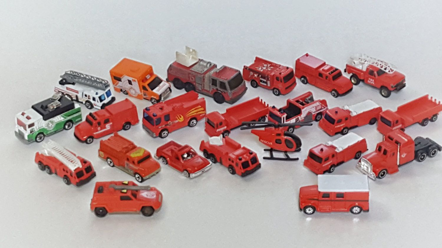Hot Wheels FIRETRUCKS 1:64 Scale Diecast Cars FIRE Trucks Lot of 22 Toy Vehicles by VtgTreasureTroves on Etsy