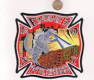 Lewiston Fire Department Engine 5 Patch Maine ME