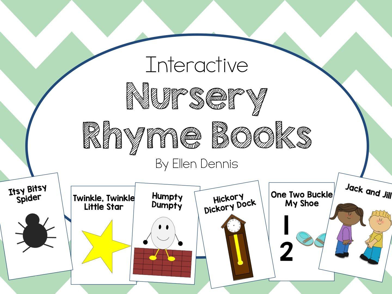 Interactive Nursery Rhyme Books Rhyming books, Nursery