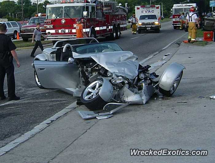 Plymouth Prowler crashed in New Smyrna Beach, Florida