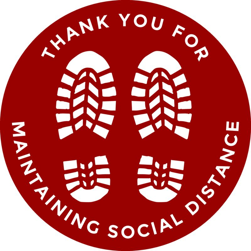 Keep Your Distance Social Distance stickers