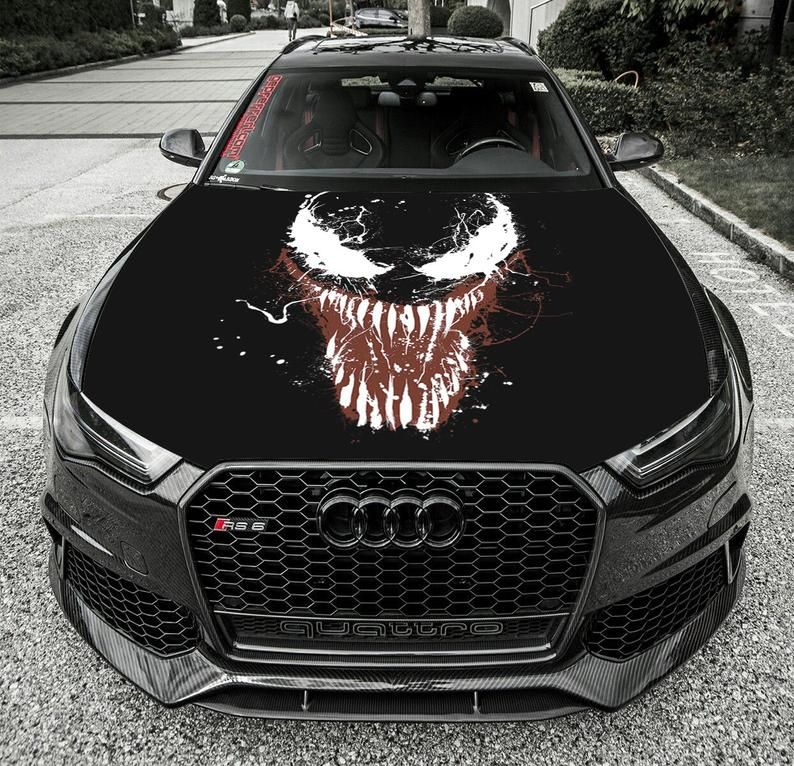 Vinyl Decal Venom Paint Car Hood Bonnet Wrap Full Color Etsy