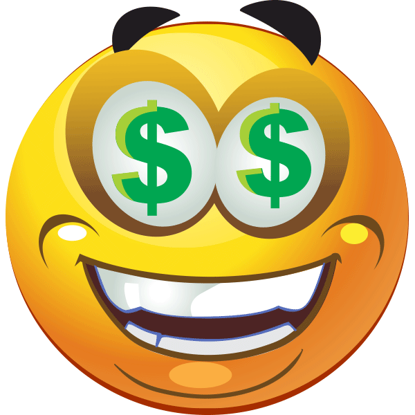 Image result for emoji with dollar sign eyes