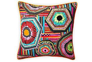 20x20 Native Pillow, Black Jiti