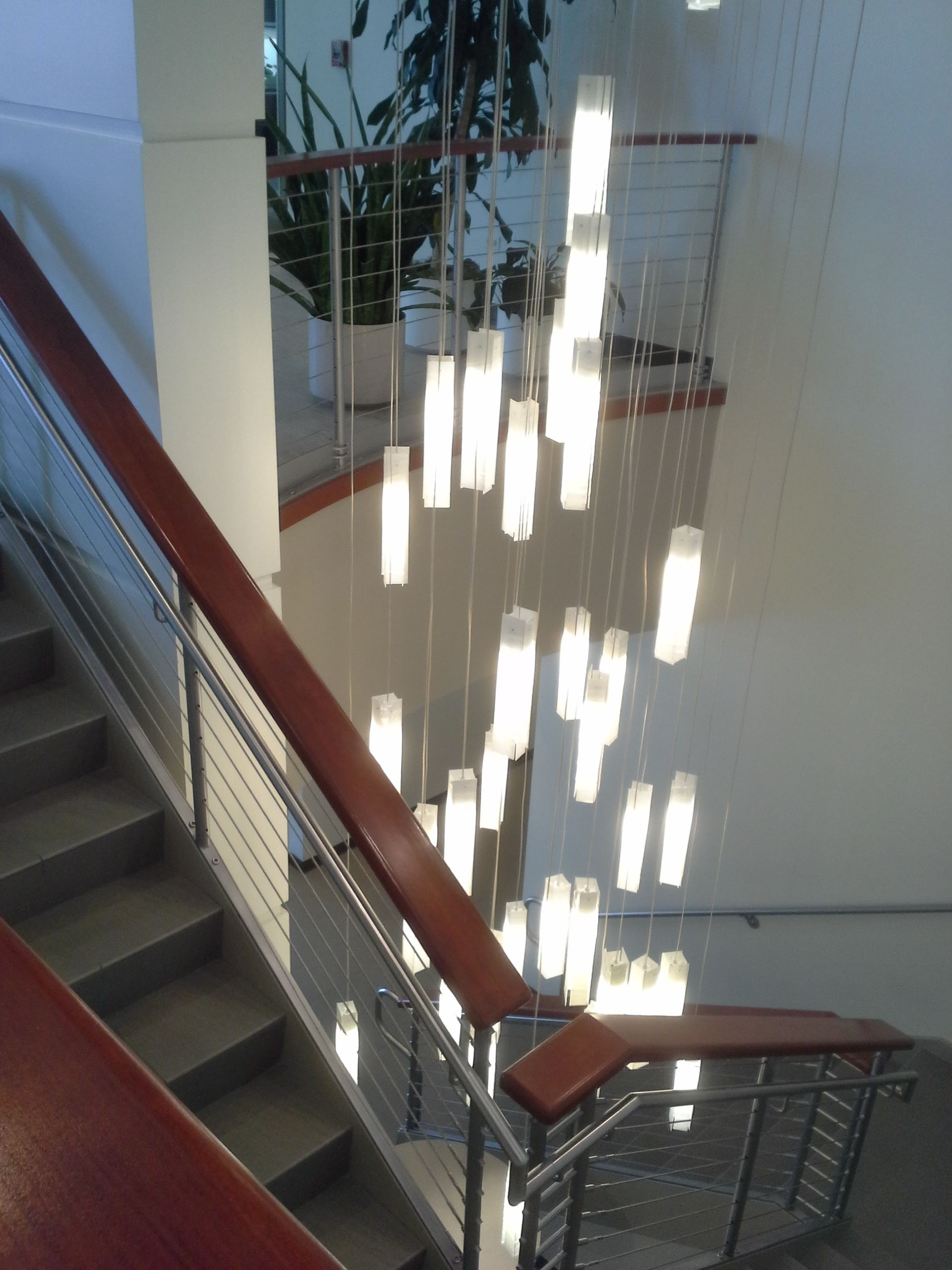 Contemporary Long 3 Story Staircase Chandelier Multi Level Chandelier Two Story Chandelier Modern Two Modern Chandelier Foyer Modern Chandelier Modern Foyer