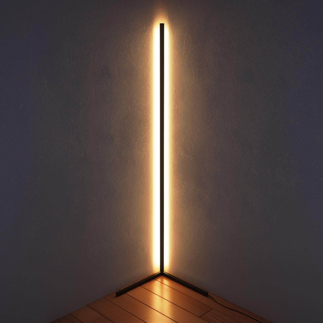 The Lubois : a floor lamp with a clear LED light strip
