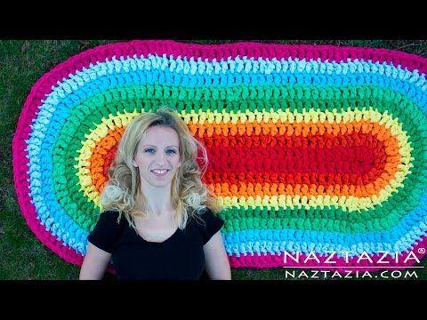 Oval Rag Rug Naztazia Crochet Rag Rug Crochet Rug Patterns Crochet Fabric