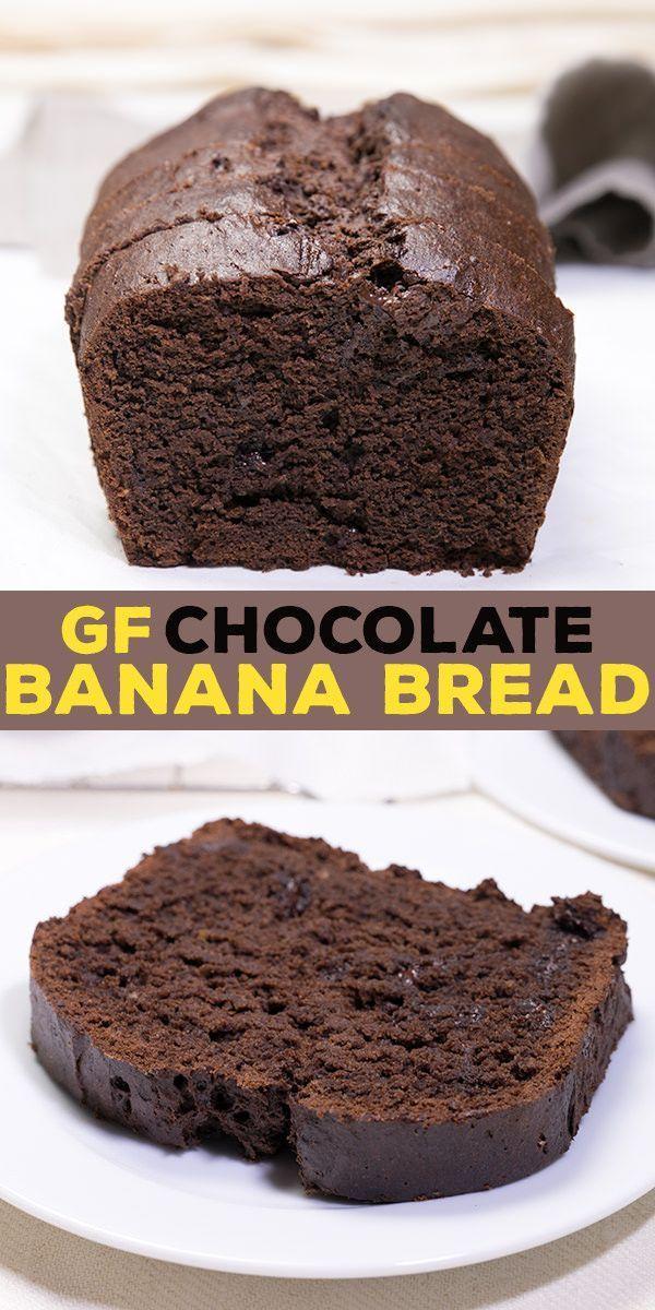 Gluten Free Chocolate Banana Bread with sour cream and cocoa #glutenfreebreakfasts