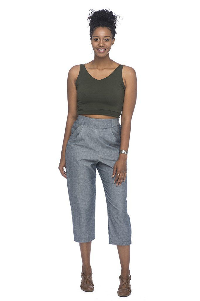 Field Day High Rise Pant in Chambray