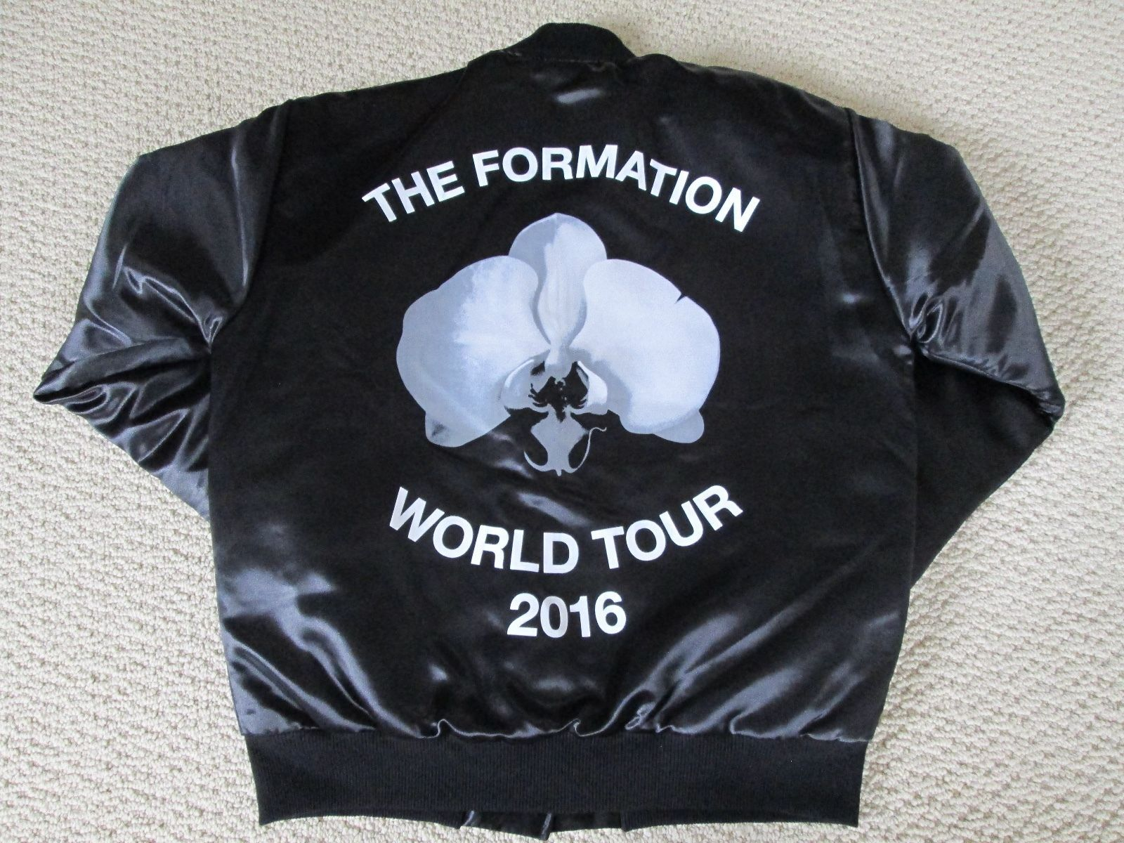 a40b4e029fac3 New Authentic Beyonce Formation World Tour Merch Orchid Black Bomber Jacket  Sz S…