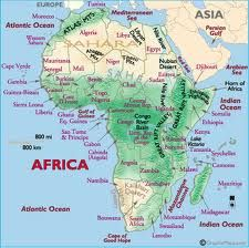 Map Of Africa With Mountains Africa Map / Map of Africa   Worldatlas.| Africa map, Map