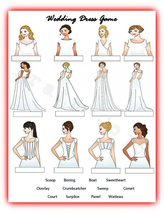 Bridal Shower Wedding Guess The Dress