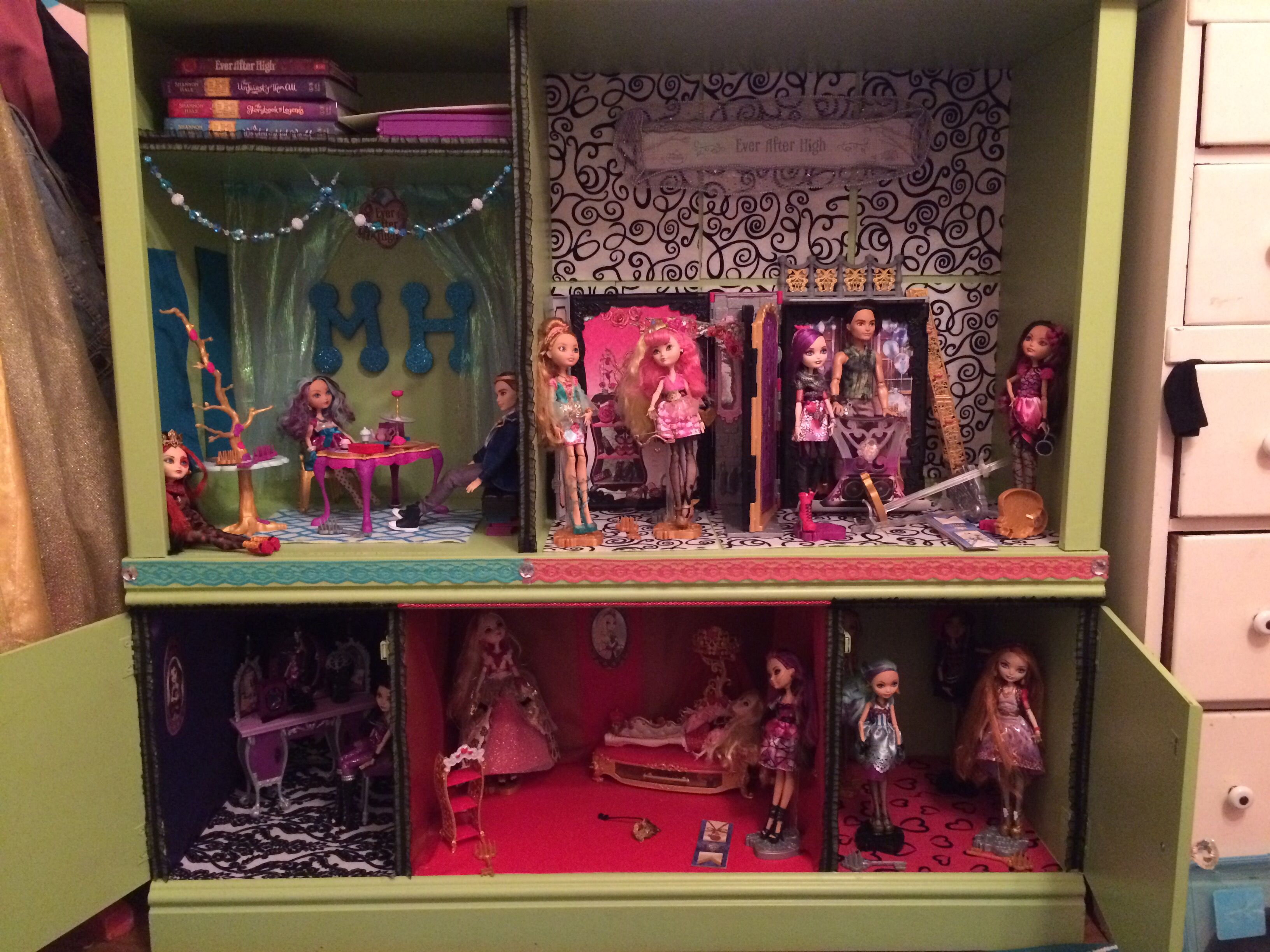 Ever After High Doll House From Old Entertainment Center.