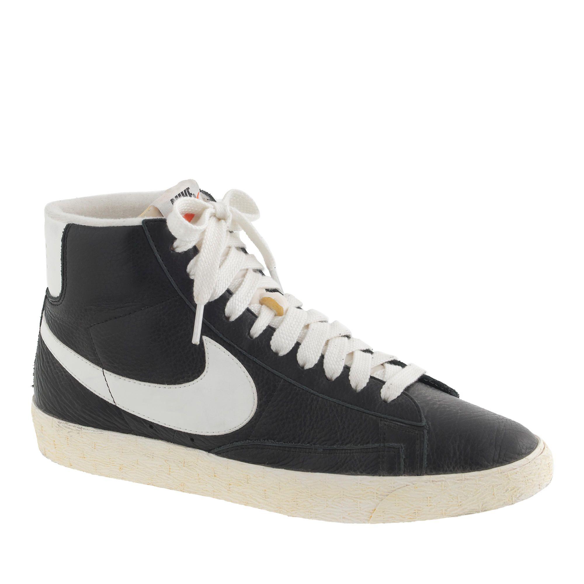 f9fc64f2c3 Women's Nike® Blazer mid vintage sneakers in black : sneakers | J.Crew