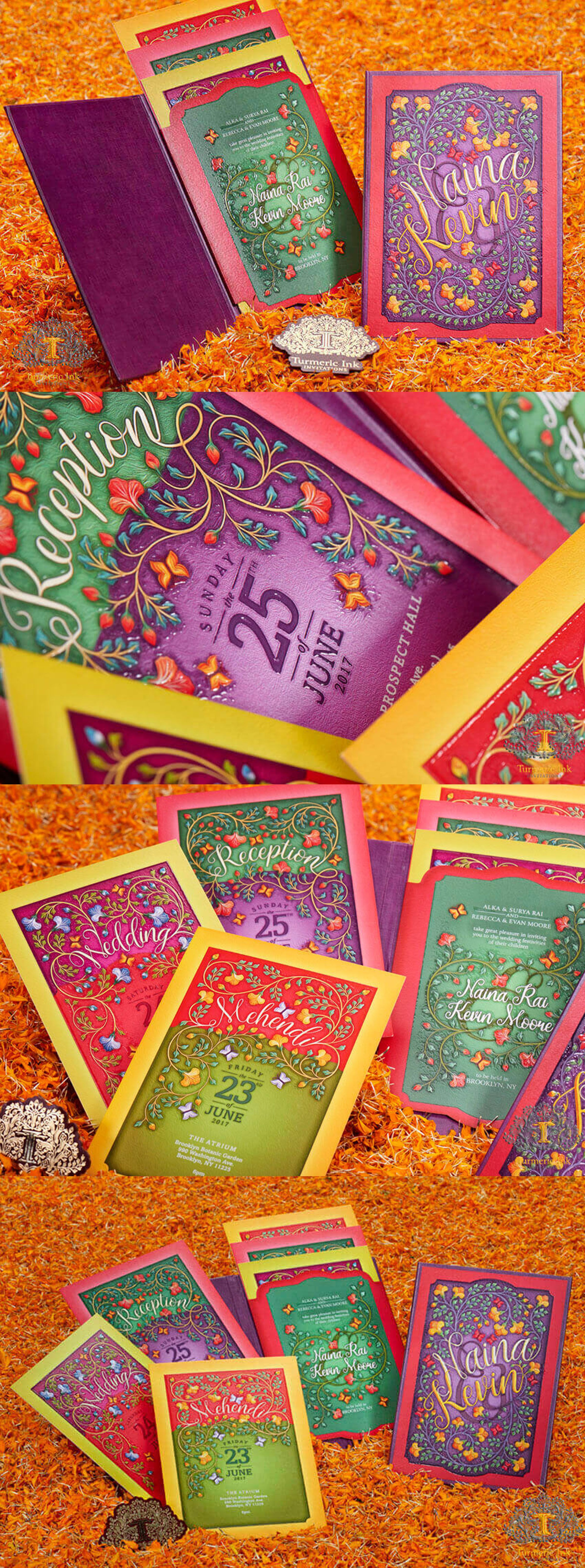Indian wedding unique wedding invitations cards (With