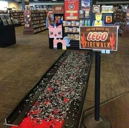 Lego firewalk!! OMG!! i do this every time i go in the boys room!!