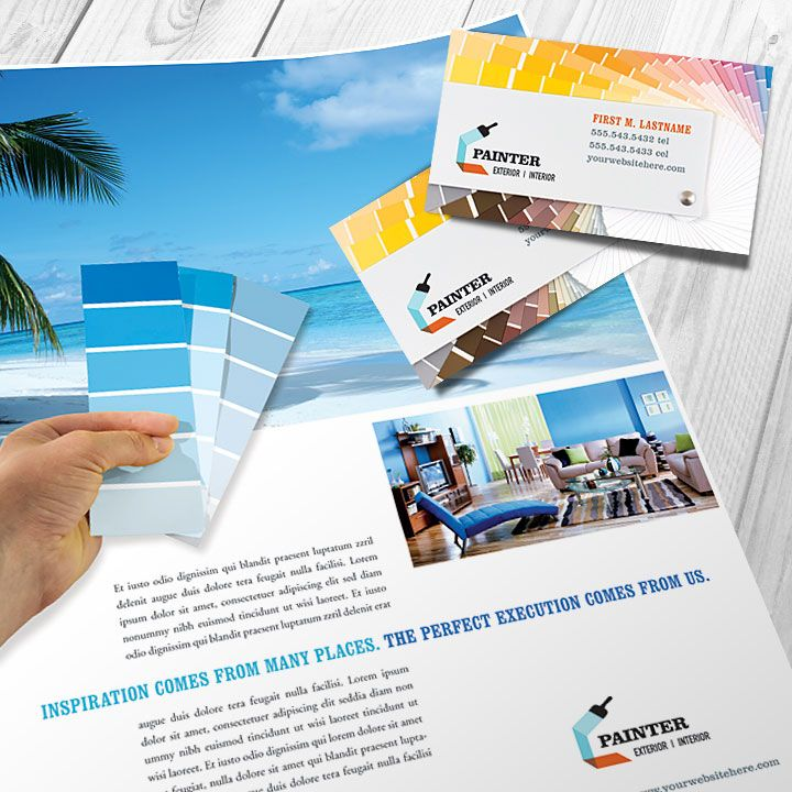 Home painter flyer and business card design by