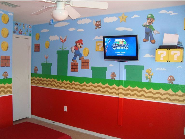 super mario bros bedroom id be the coolest mom ever ever
