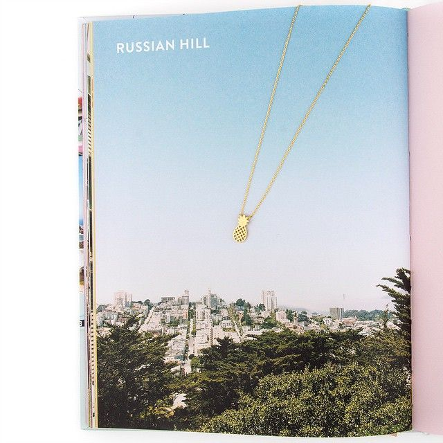 "This Moon And Lola  Pendant Is Too Cute For Words! #rocksboxsf: ""russian Hill, Just North Of Nob Hill, Is One Of San Francisco's Prettiest Neighborhoods, With Its Massive Hills, 360-degree Bay Views, Beautiful Homes, And Cable Cars Clanking Through The Streets."" By Rocksbox"