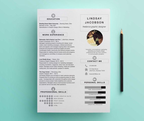 Graphic Designer Resume Template Business\/Marketing Pinterest - visual designer resume
