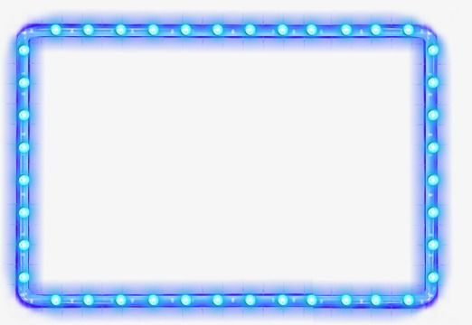 Cool Blue Border Blue Cool Light Png And Vector With Transparent Background For Free Download Light Effect Frame Cool Stuff