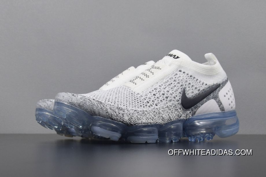 cd2056220d1 Nike Air Vapormax Flyknit Moc 2 AH7006-101 Mens Running Shoes White Oreo  Transparent Bottom New Style